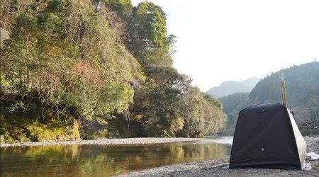【冬でもいける】12月の清流でテントサウナ
